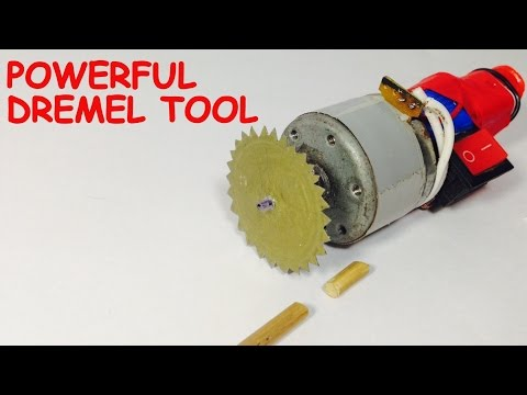 How to make a POWERFUL MINI CUTTER at HOME | DREMEL TOOL