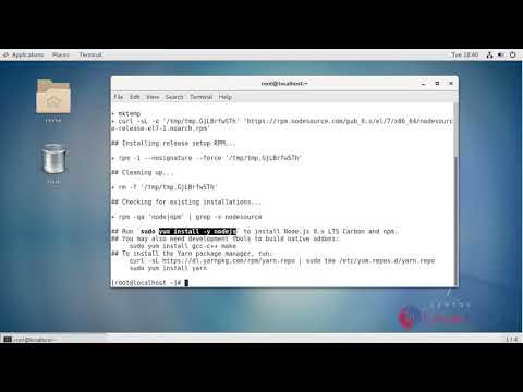 How to install Node.js 8 on CentOS7