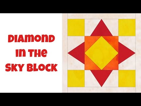 How to Make a Diamond Sky Quilt Block - Beginner Quilting Tutorial with Leah Day