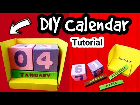 DIY Desk Calendar | New Year DIY ideas | Handmade Calendar |