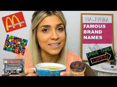 Famous Brand Names   Pronunciation   Eng