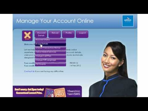 How to login Web self care celcom