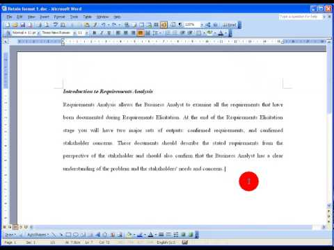 How To... Retain Text Format When Copying and Pasting in Word 2003
