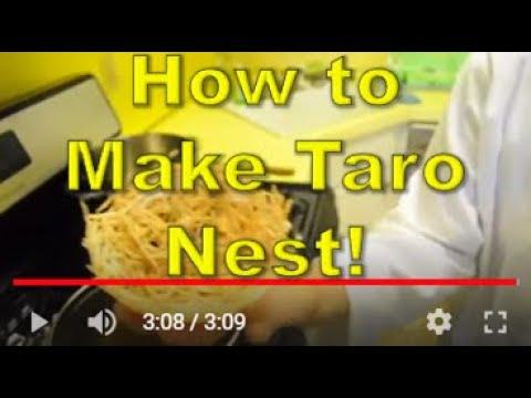 How to make Crispy Taro Nest - Ny The Cook