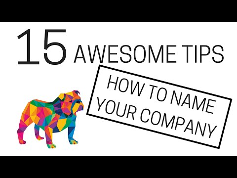 15 tips - How to name your company!