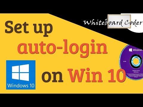 Set up auto-login on windows 10