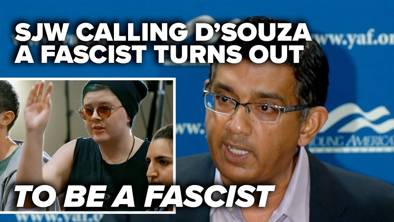 HOW THE TABLES TURN: SJW calling D'Souza a fascist turns out to be a fascist