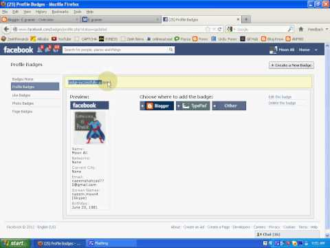 How to make Facebook profile for blog NaeeMoon