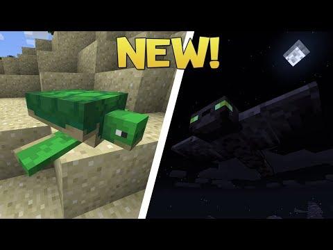 New Minecraft Mobs! Turtles and Phantoms! - Minecraft 1.13 Snapshot (Aquatic Update)