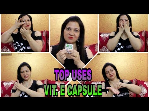 VITAMIN E OIL FOR FACE , SKIN AND HAIR | TOP USES | BEAUTY BENEFITS OF VITAMIN E | ROYAL STYLE