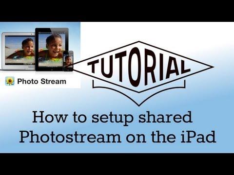 How to setup shared photostream on an iOS device