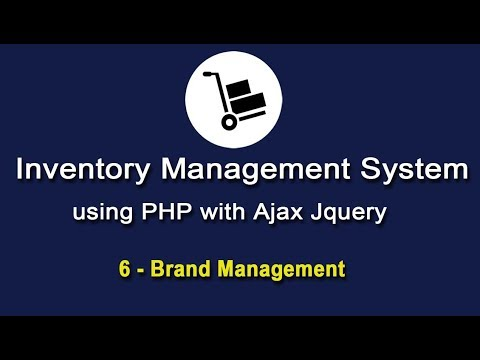 Inventory System using PHP with Ajax JQuery - Brand Management