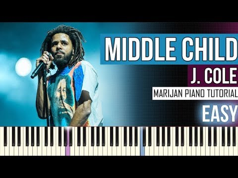 How To Play: J. Cole - Middle Child | Piano Tutorial EASY