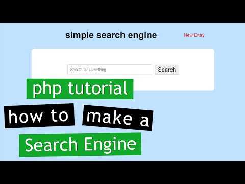 PHP Tutorial: Make a Search Engine (2/2)