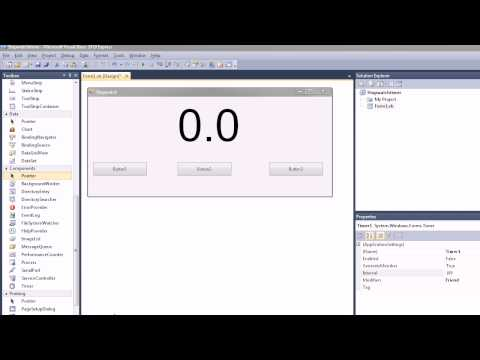How to make a stopwatch in Visual Basic 2010