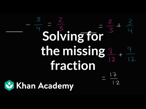 Solving for the missing fraction