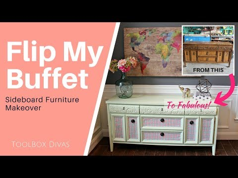 Furniture Flip - Painting an old Buffet Cabinet