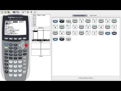 Finding a Determinant on TI-84
