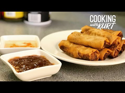 Lumpiang Shanghai: Fried Pork Lumpia (Filipino Spring Rolls) - with 2 Sauces | Cooking with Kurt