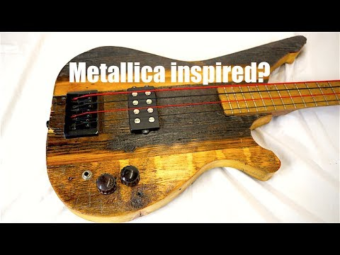 Barn Wood Electric Guitar and Bass