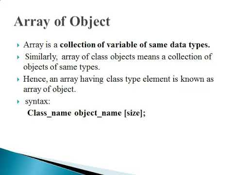 Array of object pointer in c++