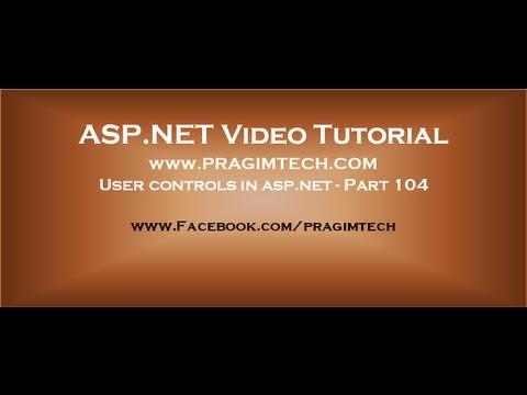 User controls in asp net   Part 104