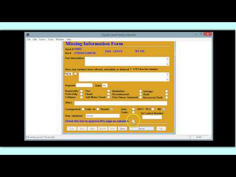 Update Electronic Used Car Record Book Quick Version