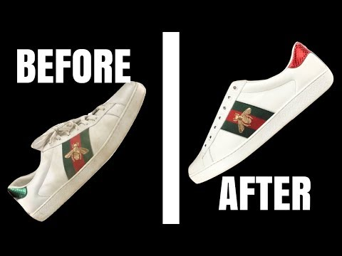 How to Clean Gucci Ace White Leather Sneakers - MUST SEE Hacks for Cleaning Leather Sneakers