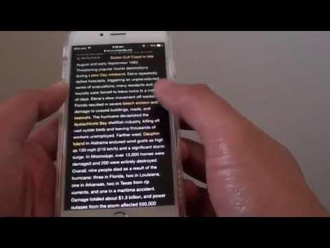 iPhone 6: How to Reverse Color of White Background and  Black Text and Vice Versa
