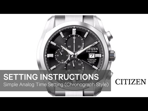 OFFICIAL CITIZEN SETTING INSTRUCTIONS (setting the time on a simple analog)