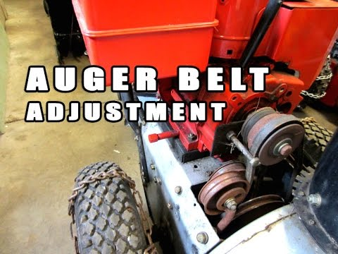 HOW-TO - Snowblower Auger Belt Adjustment
