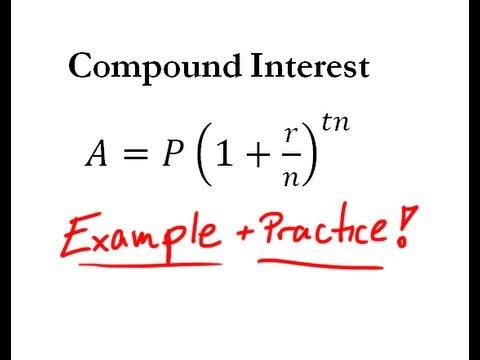 Compound Interest - Easy Example + Practice