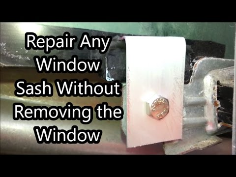Window sash repair replace fix car truck van without removing the window