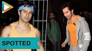 SPOTTED: Dashing Varun Dhawan @Gym in Mumbai