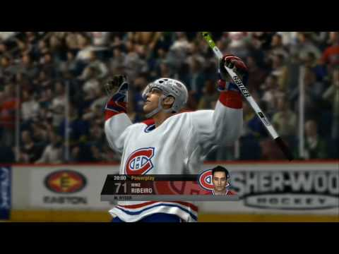 NHL 07 - Winning In Overtime With 0.4 Seconds Left