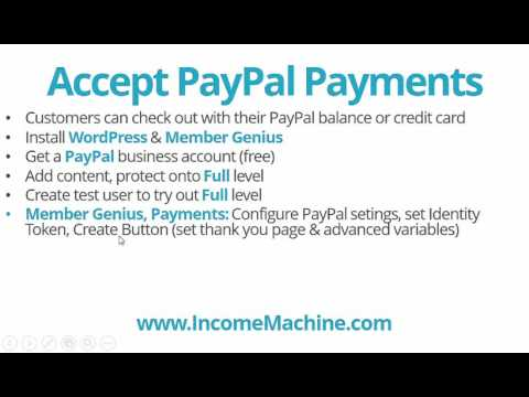Accept PayPal Payments & Credit Cards for WordPress Membership Site (recurring or one-time)