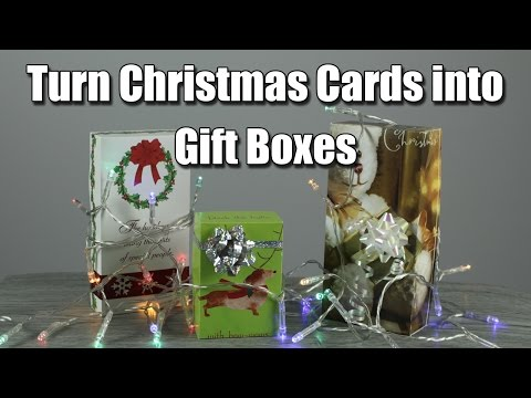 How to Turn a Christmas Card into a Gift Box