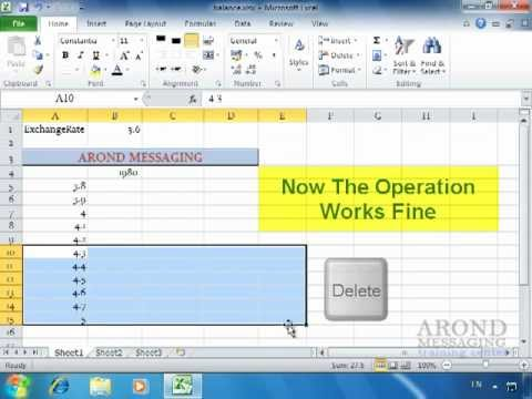 Using Excel 2010 - Create a Data table