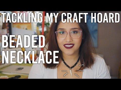 Tackling my Craft Hoard - Beaded Necklace : DIY
