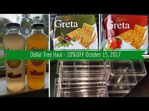 Dollar Tree Haul - 10% OFF - October 15, 2017