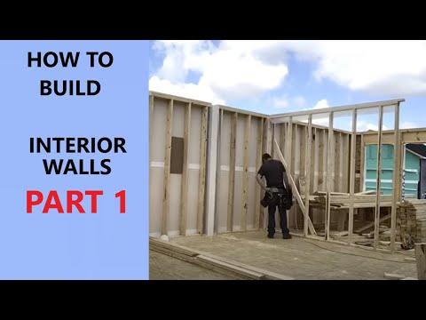 How to build interior walls part 1