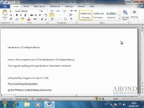 Using Word 2010 - Work with Document Properties