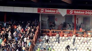 Crvena Zvezda vs FK Partizan 25.04.2015 Riots before game