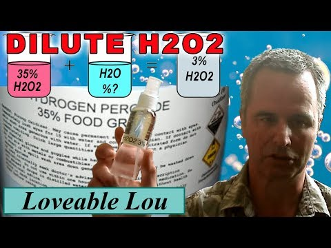 Make 3% (H2O2) Hydrogen Peroxide from 35% food grade H2O2