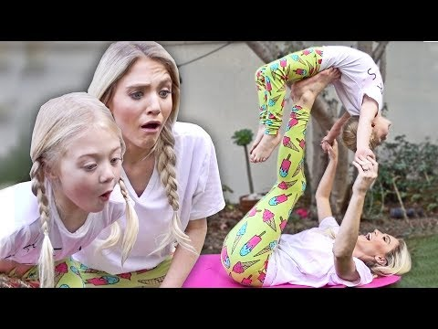 HILARIOUS MOMMY DAUGHTER YOGA CHALLENGE!!