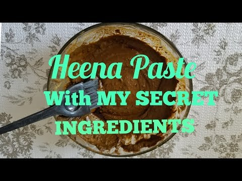 My Secret Henna Paste Recipe For Bouncy, Shiny, Smooth, Strong Hair | Henna Hair Dye For Hair Growth