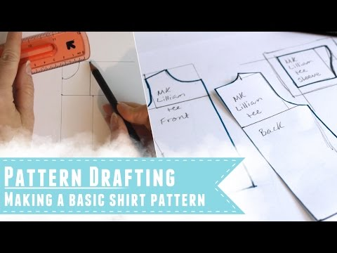 Drafting a shirt pattern to fit your doll
