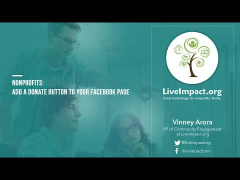 Add a donate button to your  Facebook Page