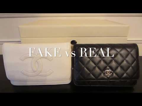 FAKE vs REAL   Chanel (WOC) Wallet on a Chain   Handbag Comparison and Authentication