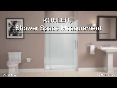 Measuring Your Bathroom for KOHLER Pivot Shower Doors